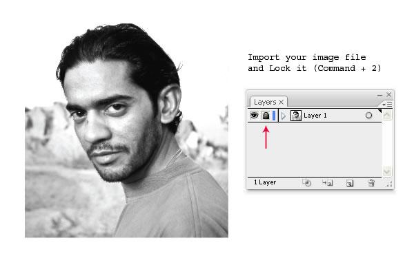 把照片做成矢量线条图形