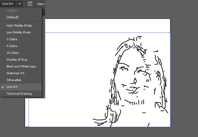 AI教程 用描摹功能将人物照片制作黑白版画